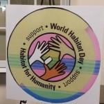 World Habitat Day supporting Habitat for Humanity