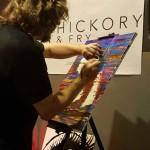 John Bramblitt painting live.