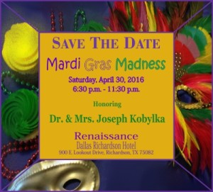 Mardi Gras Madness Save the Date