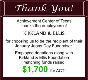 Thank You to Kirkland and Ellis Employees