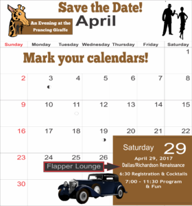 2017 Save the Date Gala Calendar